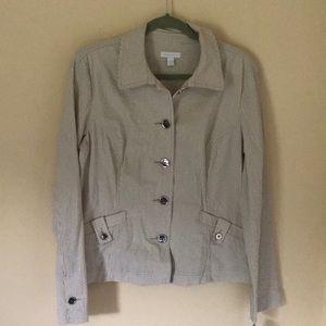 NWT Seersucker striped blazer/jacket